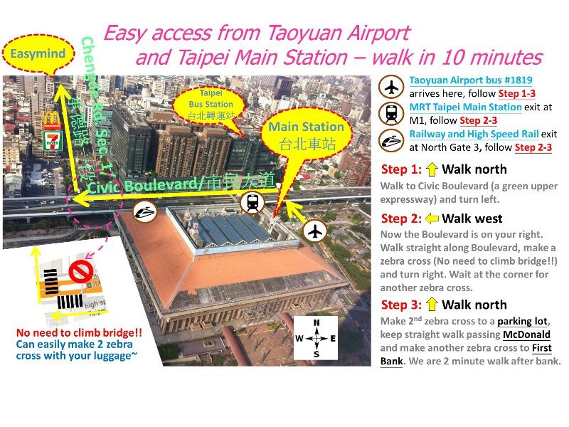 Easymind Guesthouse, Hostel in Taipei Main Station in Taipei