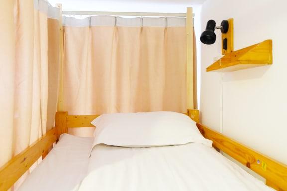 Kamar penginapan di Blue Mountain Luwan Youth Hostel