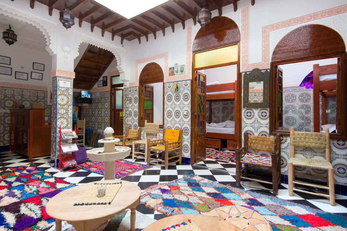 common area in Mosaic Hostel Marrakech