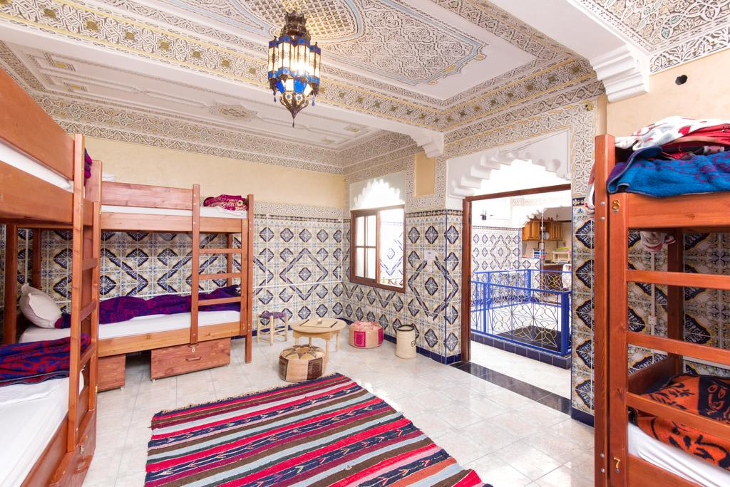 shared dormitory in Mosaic Hostel in Marrakech