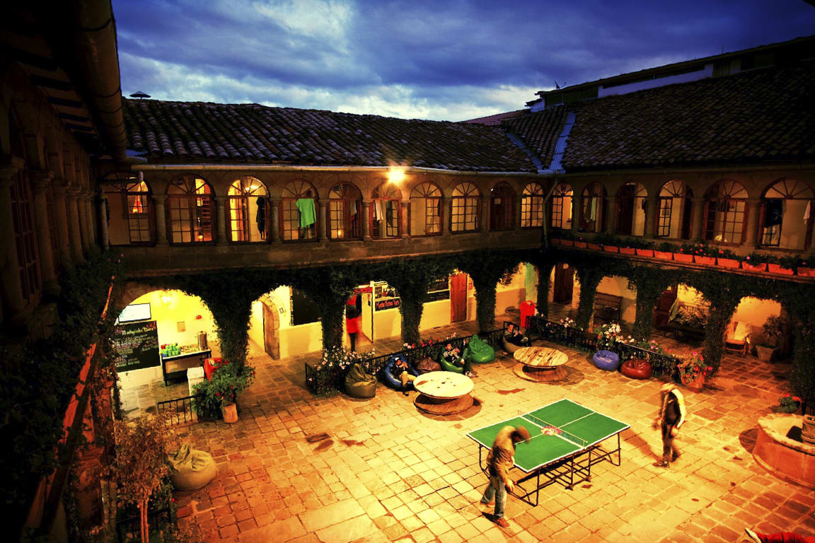 South America Hostels - party area at Pariwana Hostel, Cusco