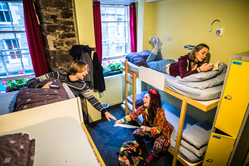 Dorm room at High Street Hostel in Edinburgh
