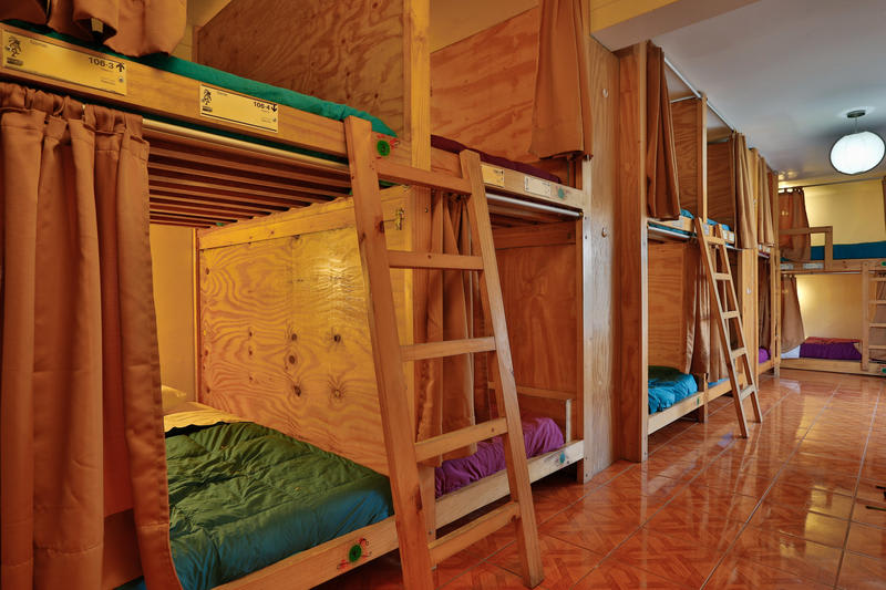 South America Hostels - pod beds at Kokopelli Hostel, Paracas