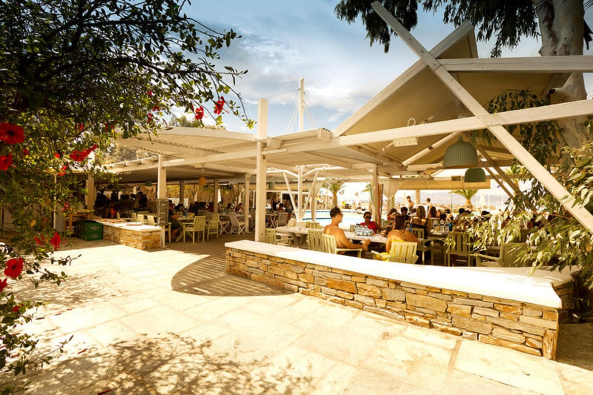 Far Out Beach Club, Ios, Greece
