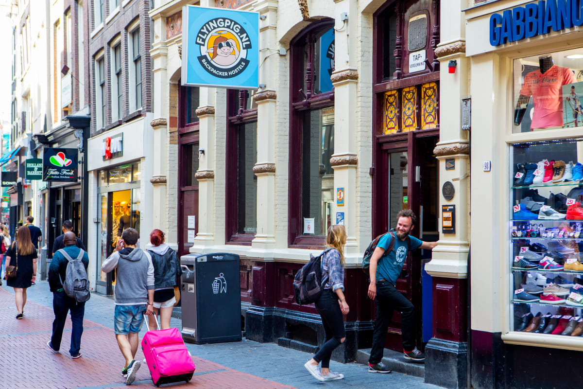 Flying Pig Downtown in Amsterdam, Netherlands hostel