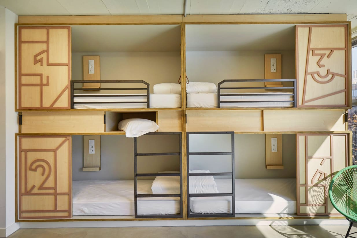 shared dormitory in Unite Hostel in Barcelona